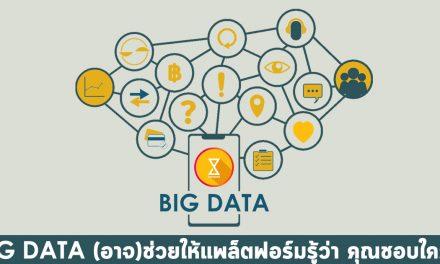 Big Data (อาจ)ช่วยให้แพลตฟอร์มรู้ว่าคุณชอบใครก่อนคุณเอง?