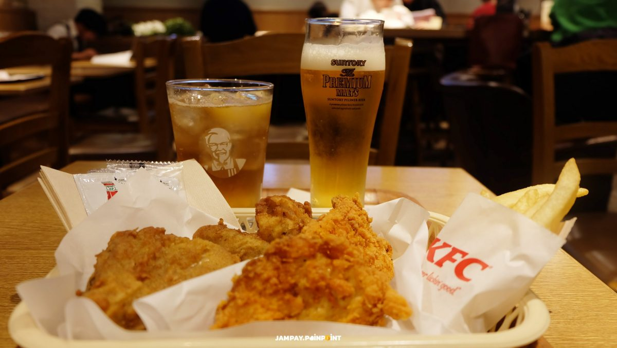 KFC Takadanobaba, Tokyo, Japan, เคเอฟซี, Suntory, KFc Whisky, Solo Travel